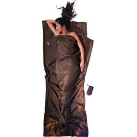 Cocoon TravelSheet Silk, marrón